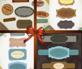 Vintage ribbon and banner decorative design vector