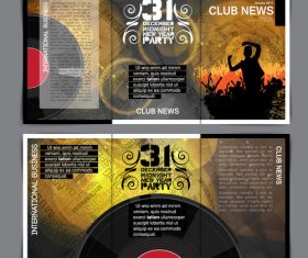 Vinyl disc template design vector