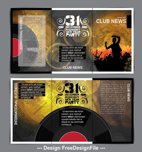 Vinyl disc template design vector