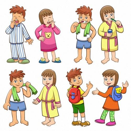 Washing cartoon vector
