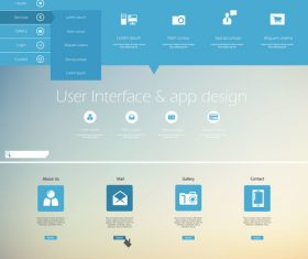 Website User interface app templates design vector