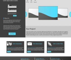Website black background templates vector