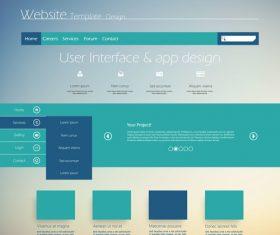 Website cover templates design vector