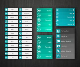 Website cyan banner templates vector