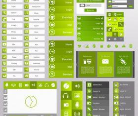 Website green banner templates vector