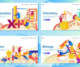 Website page isometric illustration vector