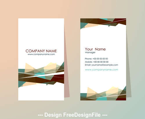 White background geometric pattern business card design vector