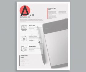 White brochure cover template vector
