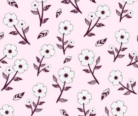 White flower seamless background pattern vector