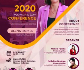 Woman Conference PSD Poster Templates