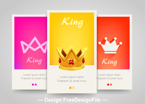 Yellow and pink and red vertical banners vector