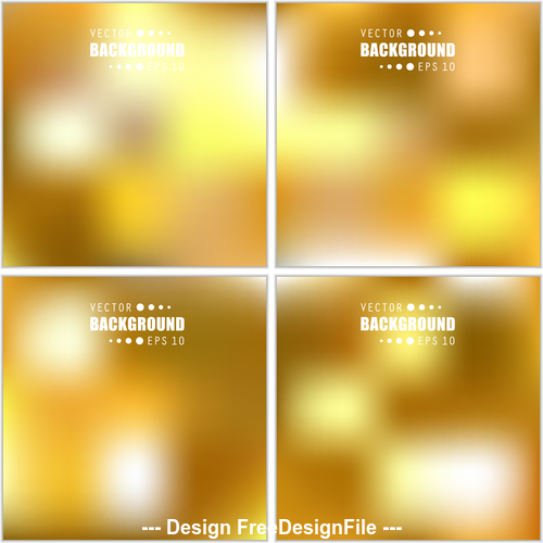 Yellow gradient bright multicolored blurred abstract background vector