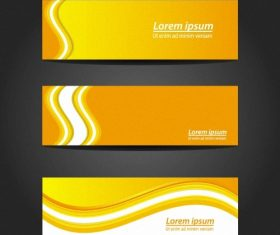 Yellow wave banner vector
