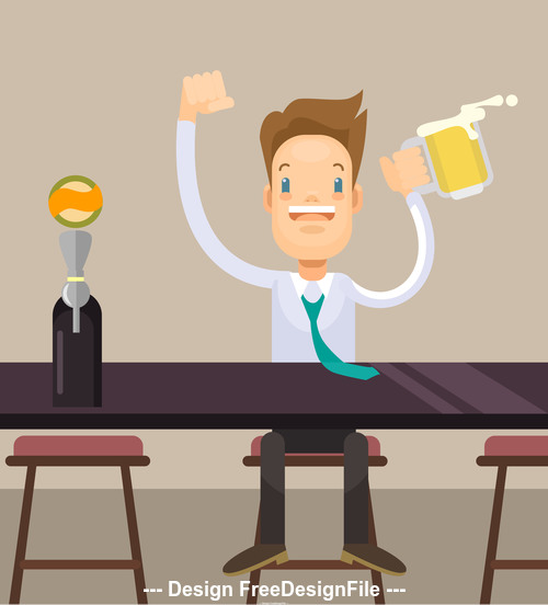 businessman drinking vector
