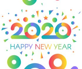 happy 2020 new year banners vector