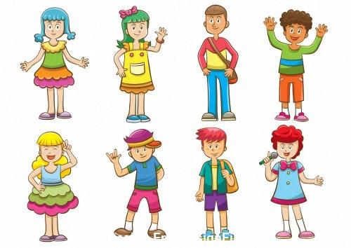 kid cartoon vector