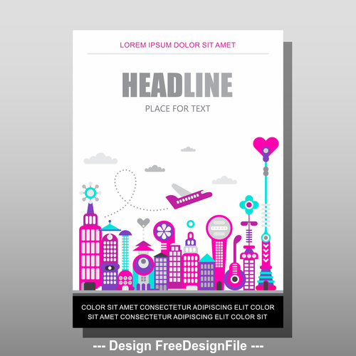 modern city magazine template vector