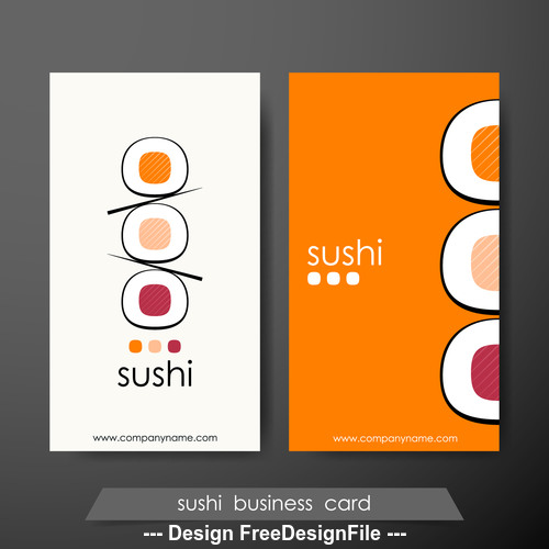 sushui business card vector