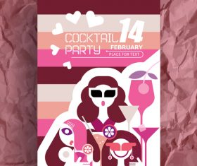 valentine's day party flyer vector