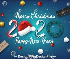 2020 Christmas background vector