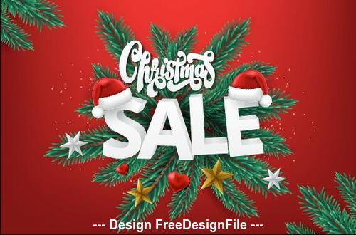 2020 Christmas sale background vector