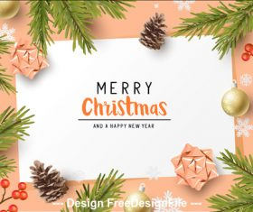 2020 beige background christmas greeting card vector