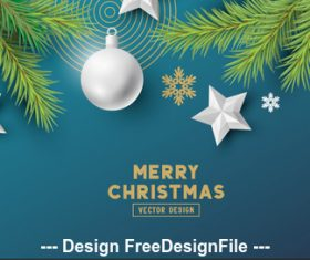 2020 blue background merry christmas card vector