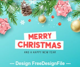 2020 christmas greeting card vector