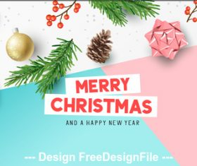 2020 color geometric christmas greeting card vector