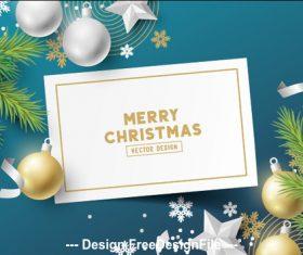 2020 merry christmas greeting card vector