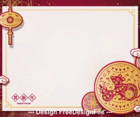 2020 new year greeting card vector