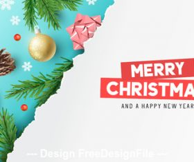2020 white and light blue background christmas greeting card vector