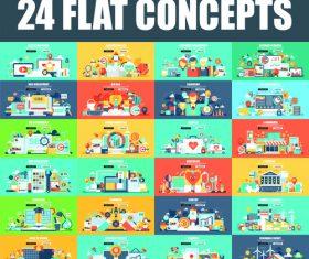 24 flat concepts vector
