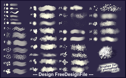 36 Kind Abstract Photoshop Brushes