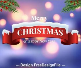 Abstract background christmas banner vector
