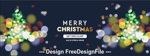 Abstract background christmas card vector