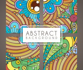 Abstract intricate patterns vector 01
