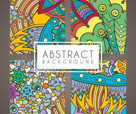 Abstract intricate patterns vector 02
