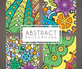 Abstract intricate patterns vector 03
