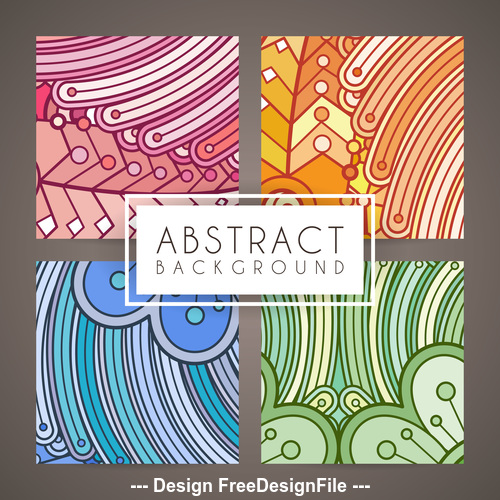 Abstract intricate patterns vector 04