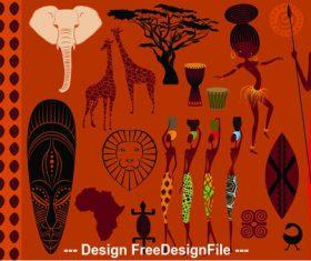Africa element vector
