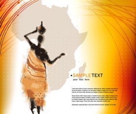 African element design vector