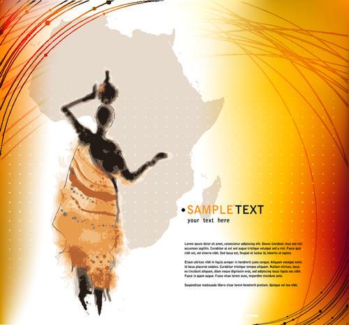 African element design vector