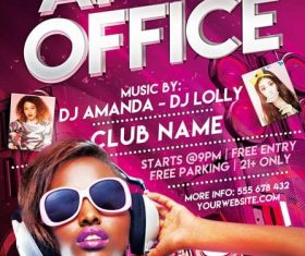 After Office Party Flyer Design PSD Template
