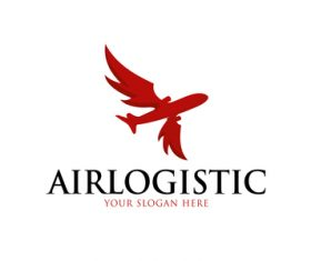 Air logistic logo vector
