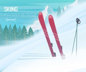 Alpine skiing vector