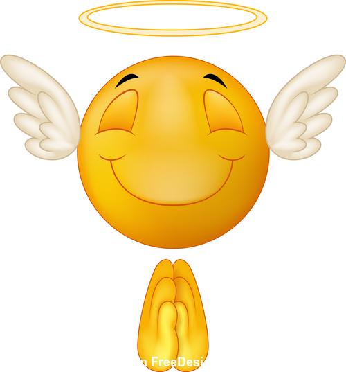 Angel cartoon vector