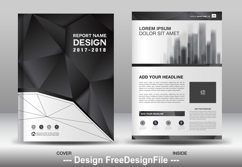 Annual report brochure flyer template vector