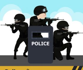 Anti-terrorist police vector