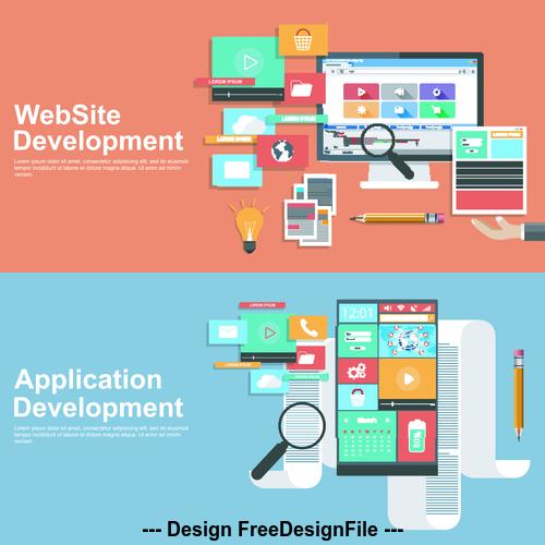 Application development banner vector